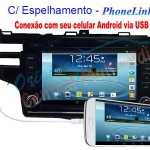 Central Multimídia Honda Fit 2014 a 2016 – PhoneLink
